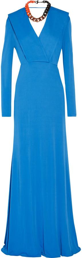 Emilio PucciEmilio Pucci Draped stretch-jersey gown