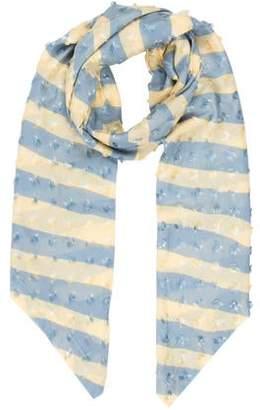 Allude Bicolor Striped Scarf