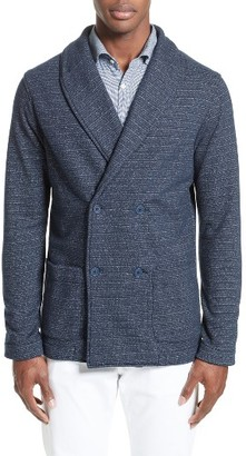 Men's Eidos Napoli Double Breasted Fleece Jacket $495 thestylecure.com
