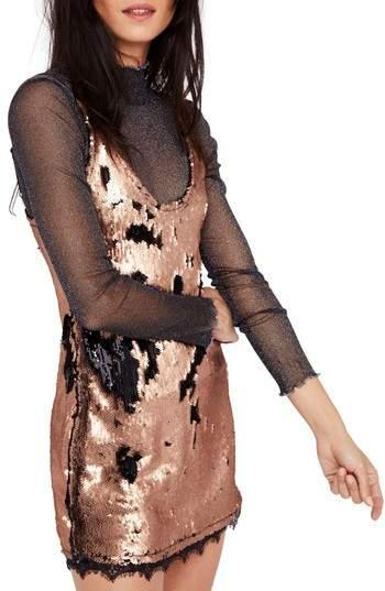 Women's Free People Seeing Double Sequin Slipdress