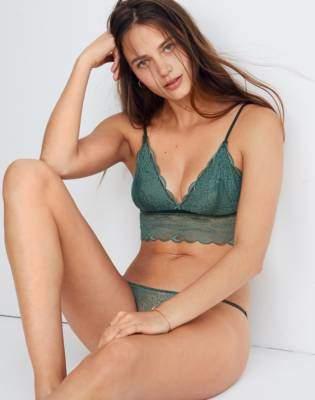 Madewell Lace Liana Longline Bralette