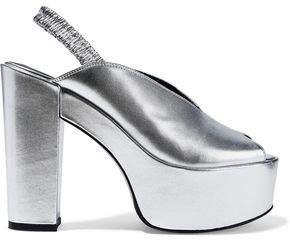 Opening Ceremony Gloria Metallic Leather Platform Sandals