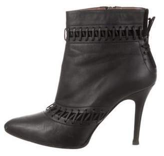 Tabitha Simmons Leather Ankle Boots Black Leather Ankle Boots