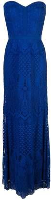 Tadashi Shoji floral embroidered evening dress