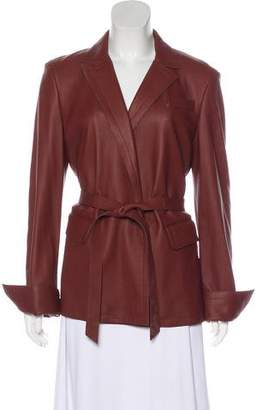 Loro Piana Belted Leather Jacket