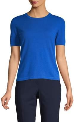 Escada Short-Sleeve Cashmere Sweater