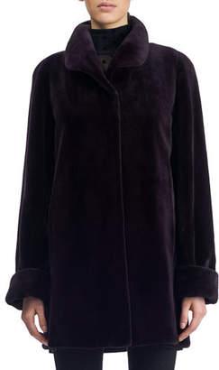 Gorski Reversible Sheared Mink Short Coat