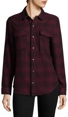 Hudson Jeans Pant Kari Plaid Button-Front Shirt