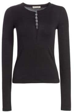Rag & Bone Bowery Split V-Neck Knit Top