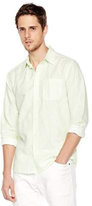 Isle Bay Linens Men's Long Sleeve Paisley Prints Standard Woven Hawaiian Shirt L