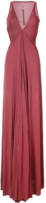 Rick Owens Lilies Venetian draped plunge gown