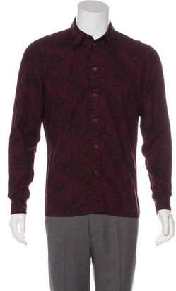 Versus Floral Print Wool-Blend Shirt