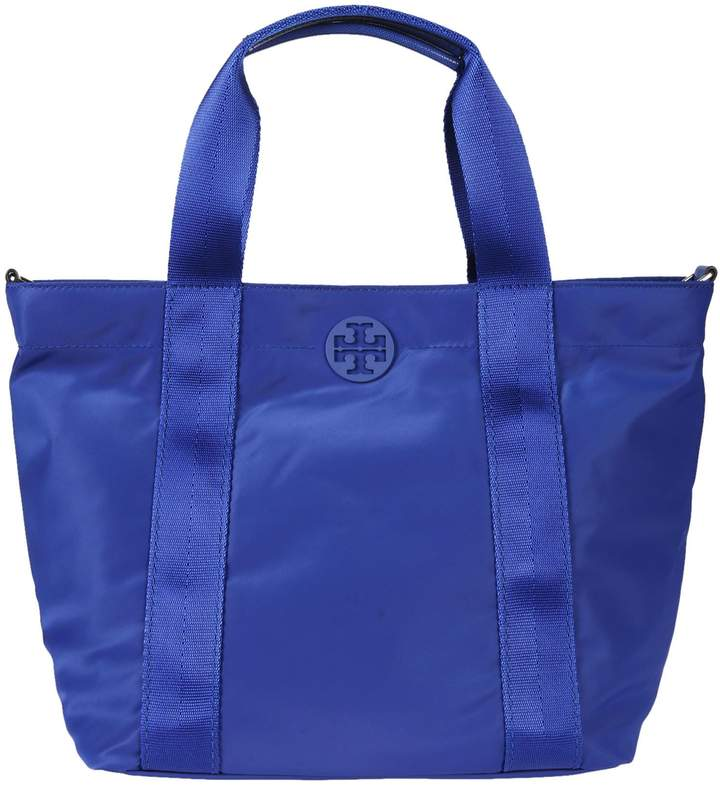 Tory Burch Small Quinn Tote - BLUE - STYLE
