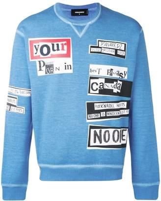DSQUARED2 faded print sweatshirt