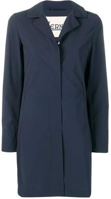 Herno classic lapel raincoat
