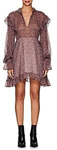 Philosophy di Lorenzo Serafini Women's Leopard-Print Silk-Blend Chiffon Dress