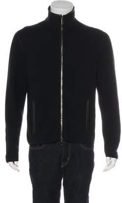 Giorgio Armani Zip-Up Sweater