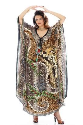 Dolce & Gabbana Women's Georgette Turkish Kaftans Beachwear Bikini Cover up Dress By D G PRINTS FAB