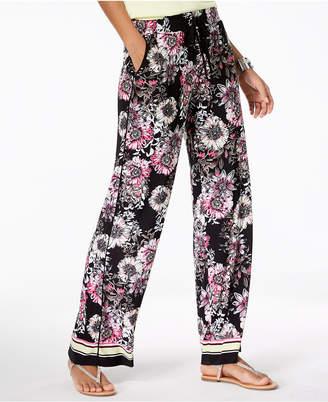 INC International Concepts I.N.C. Printed Wide-Leg Pants, Created for Macy's