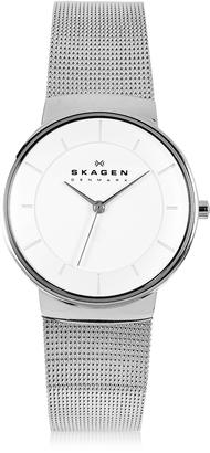 Skagen Nicoline Stainless Steel Mesh Women's Watch $138 thestylecure.com