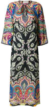 Etro mixed print beach cover-up
