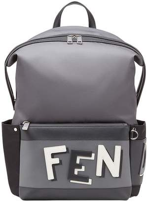 Fendi shadow logo backpack