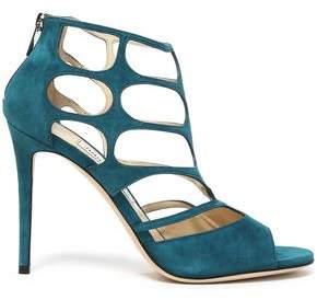 Jimmy Choo Ren 100 Cutout Suede Sandals