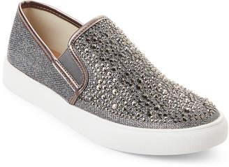 Steve Madden Pewter Macky Rhinestone Slip-On Sneakers