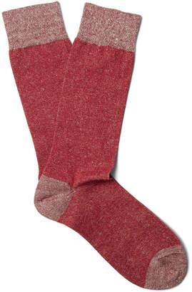 Marcoliani - Mélange Linen-Blend Socks