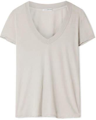 James Perse Slub Cotton-jersey T-shirt - Light gray