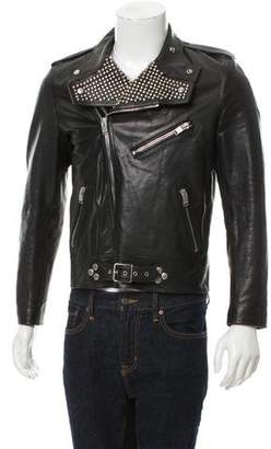 Saint Laurent 2014 Studded Leather Moto Jacket