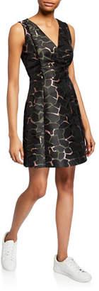 Emporio Armani Camo-Print Cocktail Dress