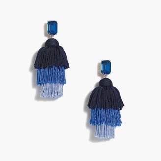 J.Crew Layered thread tassel earrings