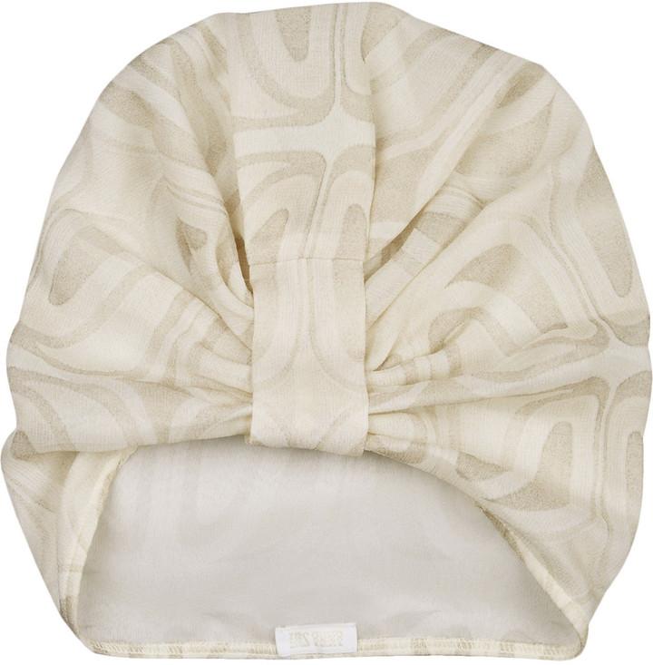 Anna Sui Printed silk-chiffon turban hat