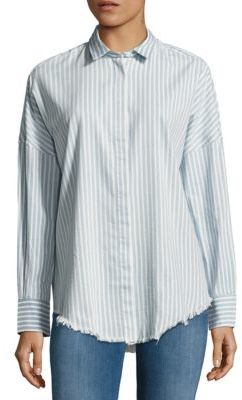 IRO Striped Fringed Shirt