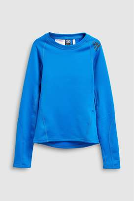Next Boys adidas Blue Alpha Skin Long Sleeve Tee