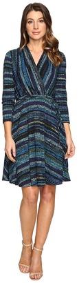 Christin Michaels Riddle Wrap Dress $89 thestylecure.com
