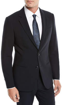 Giorgio Armani Men's Crepe Wool Two-Piece Suit, Navy