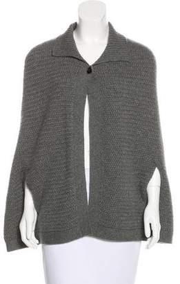 Neiman Marcus Cashmere Knit Poncho