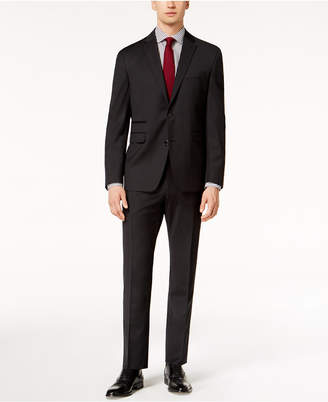 Vince Camuto Men's Coolmax Slim-Fit Stretch Black Check Suit