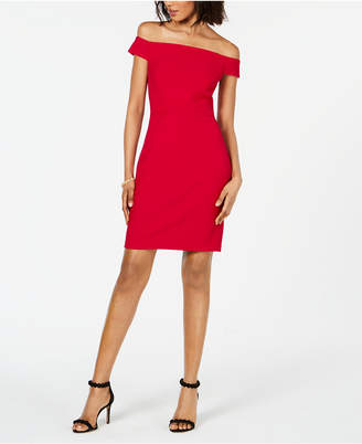 Adrianna Papell Off-The-Shoulder Bodycon Dress