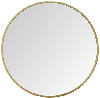 "Stratton Home 28"" Aubrey Gold Metal Wall Mirror"