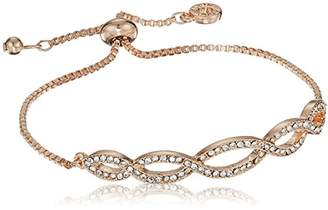 At Anne Klein Women S Pave Weave Slider Bracelet