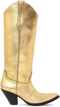 Maison Margiela 80mm Metallic Leather Cowboy Boots