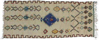 """One Kings Lane Vintage Moroccan Azilal Runner - 4'6"""" x 10'4"""" - Esmaili Rugs & Antiques"""