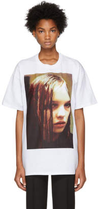 Raf Simons White Christian F. Wet Hair T-Shirt