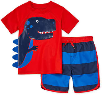 15e89fd916 Okie Dokie Striped Rash Guard Set - Toddler. JCPenney ...