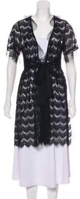 Anna Sui Lace Knee-Length Coat
