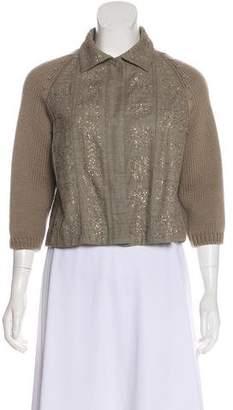 Alberta Ferretti Silk Sequined Jacket