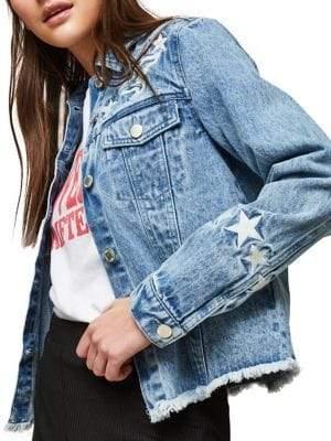 Miss Selfridge Western Embroidered Denim Jacket